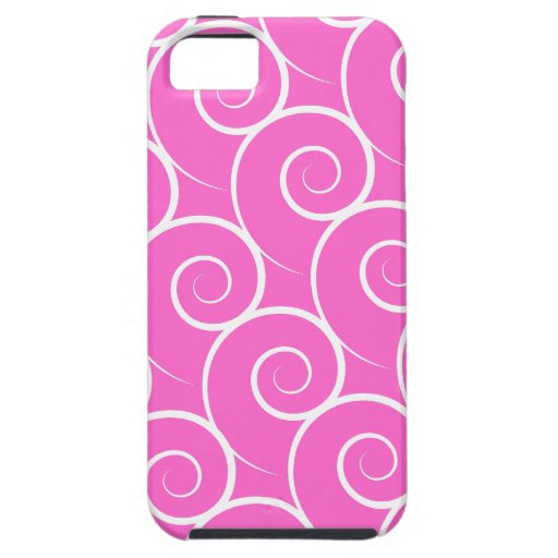 White Swirl Customizable Color iPhone 5 Covers