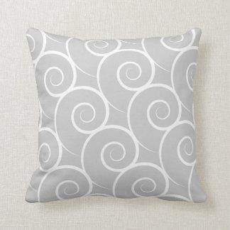 White Swirl Customizable Color Pillow