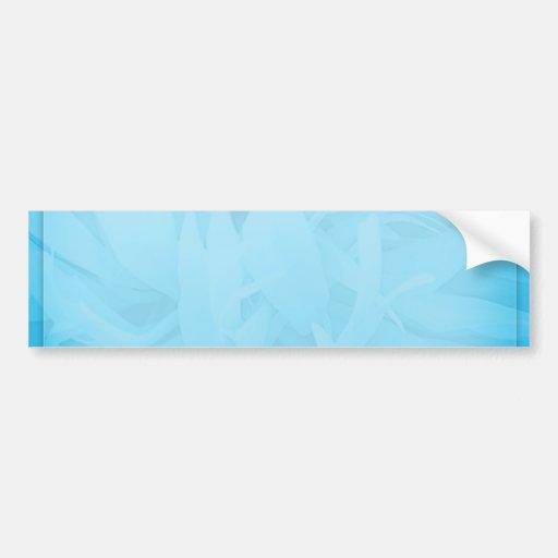White swirls on unique bluish floral pattern car bumper sticker