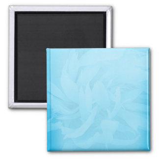 White swirls on unique bluish floral pattern refrigerator magnets