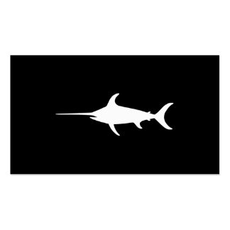White Swordfish Double-Sided Standard Business Cards (Pack Of 100)