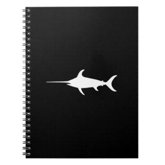 White Swordfish Spiral Notebooks