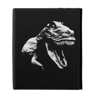 White T Rex iPad Folio Cases