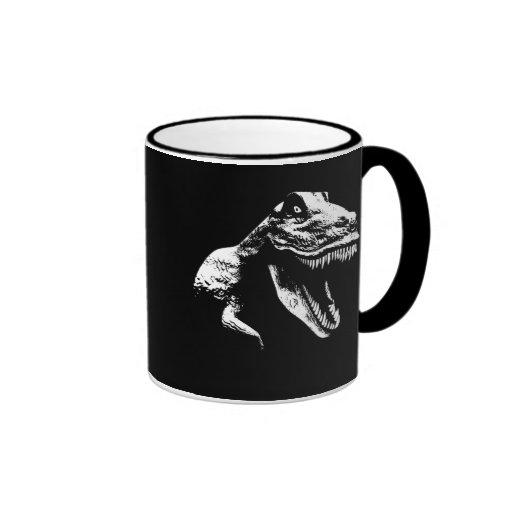 White T Rex Coffee Mugs