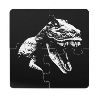 White T Rex Puzzle Coaster