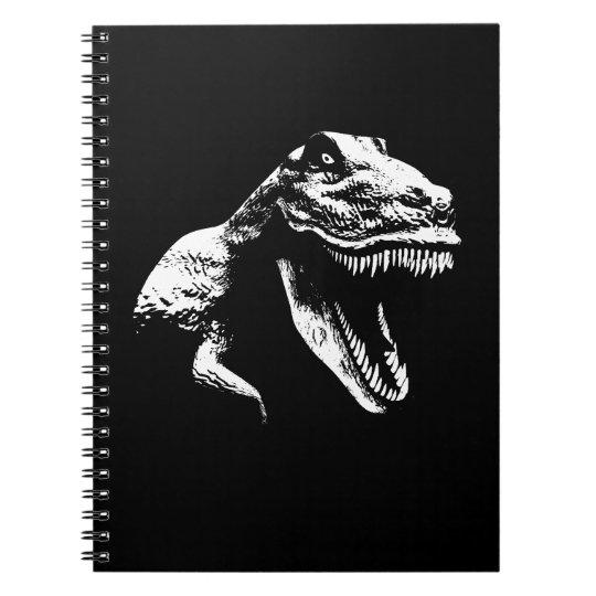 White T Rex Spiral Notebook