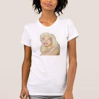 White T-Shirt - Blondes Do Have More Fun Retro 50s