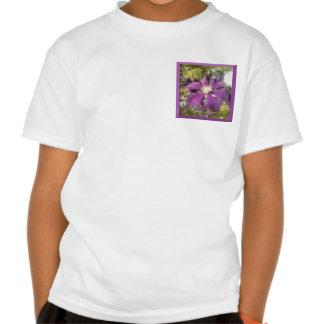 White T-Shirt Girl Passionate Purple Flower