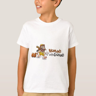 White T-Shirt - Nomads with Gonads standard