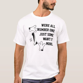 White T-shirt Number 1 StayHumbleClothing