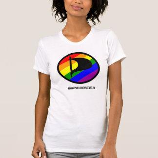 White T-shirt - Rainbow - Feminine