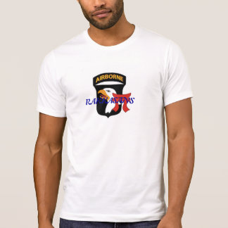 White T-Shirt with 101st ABN,Torri and Rakkasans
