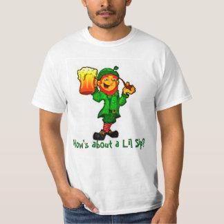 White T-shirt with Leprechaun