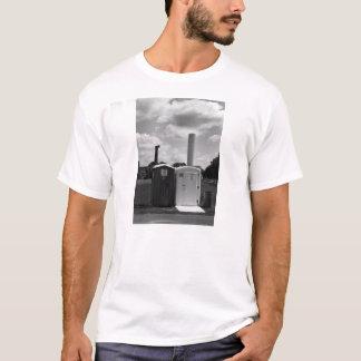 White T Shirt with Porta Potties