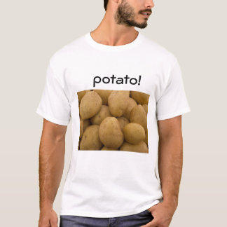 White t-shirt with potatoes!