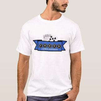 white t with poker clothing design T-Shirt