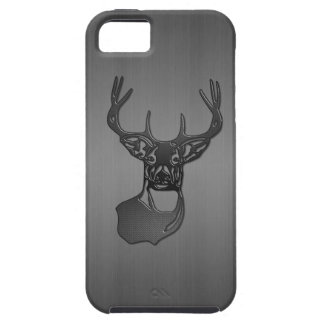 White Tail Buck Deer - Brushed Gun Metal iPhone SE/5/5s Case