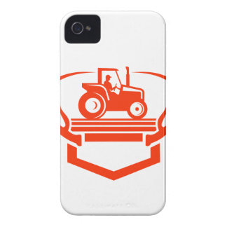 White Tail Deer Antler Tractor Retro iPhone 4 Case