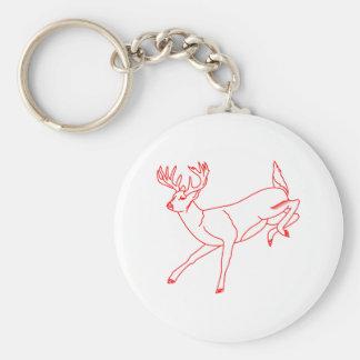 White Tail Deer Basic Round Button Keychain