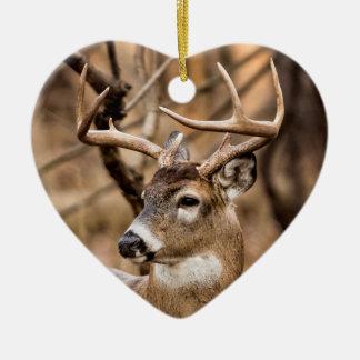 White Tail Deer Buck Ceramic Ornament