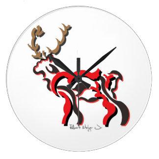 White Tail Deer Clock