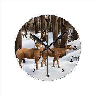 White Tail Deer Clocks