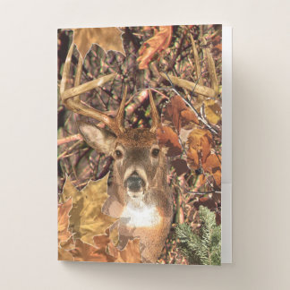 White Tail Deer Head Fall Energy Spirited on a Pocket Folder