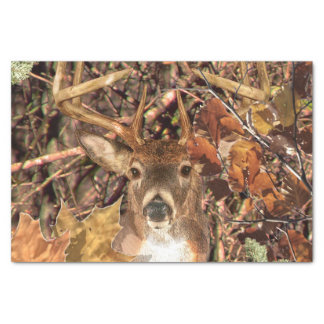 White Tail Deer Head Fall Energy Spirited on a Tissue Paper