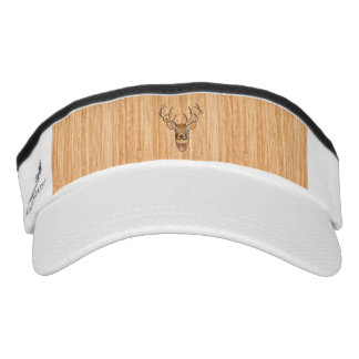 White Tail Deer Head Wood Grain Style Display Visor
