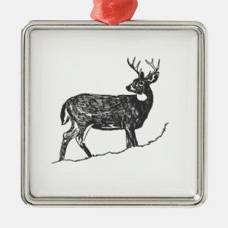 White Tail Deer Metal Ornament