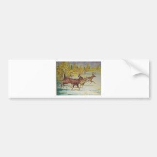 White Tail Deer On The Run Bumper Sticker
