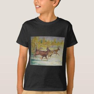 White Tail Deer On The Run T-Shirt
