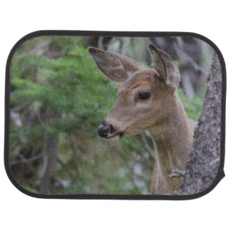 White Tail Deer Portrait Fishercap Lake Car Mat