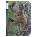 White Tail Deer Portrait Fishercap Lake Kindle Cases