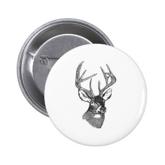 White Tail Deer Trophy Buck Button