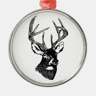 White Tail Deer Trophy Buck Metal Ornament