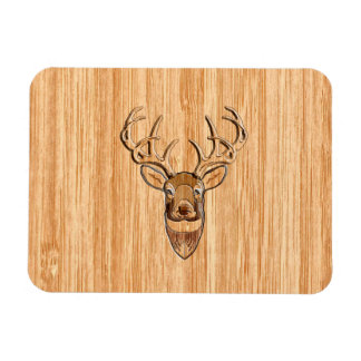 White Tail Deer Wood Grain Style Graphic Magnet