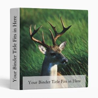 White-tailed Buck Vinyl Binders
