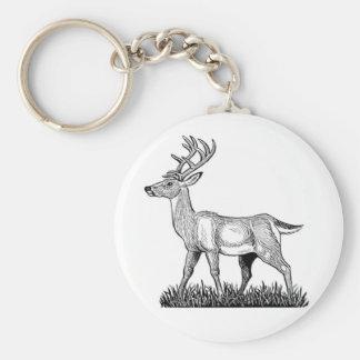 White Tailed Buck Keychain