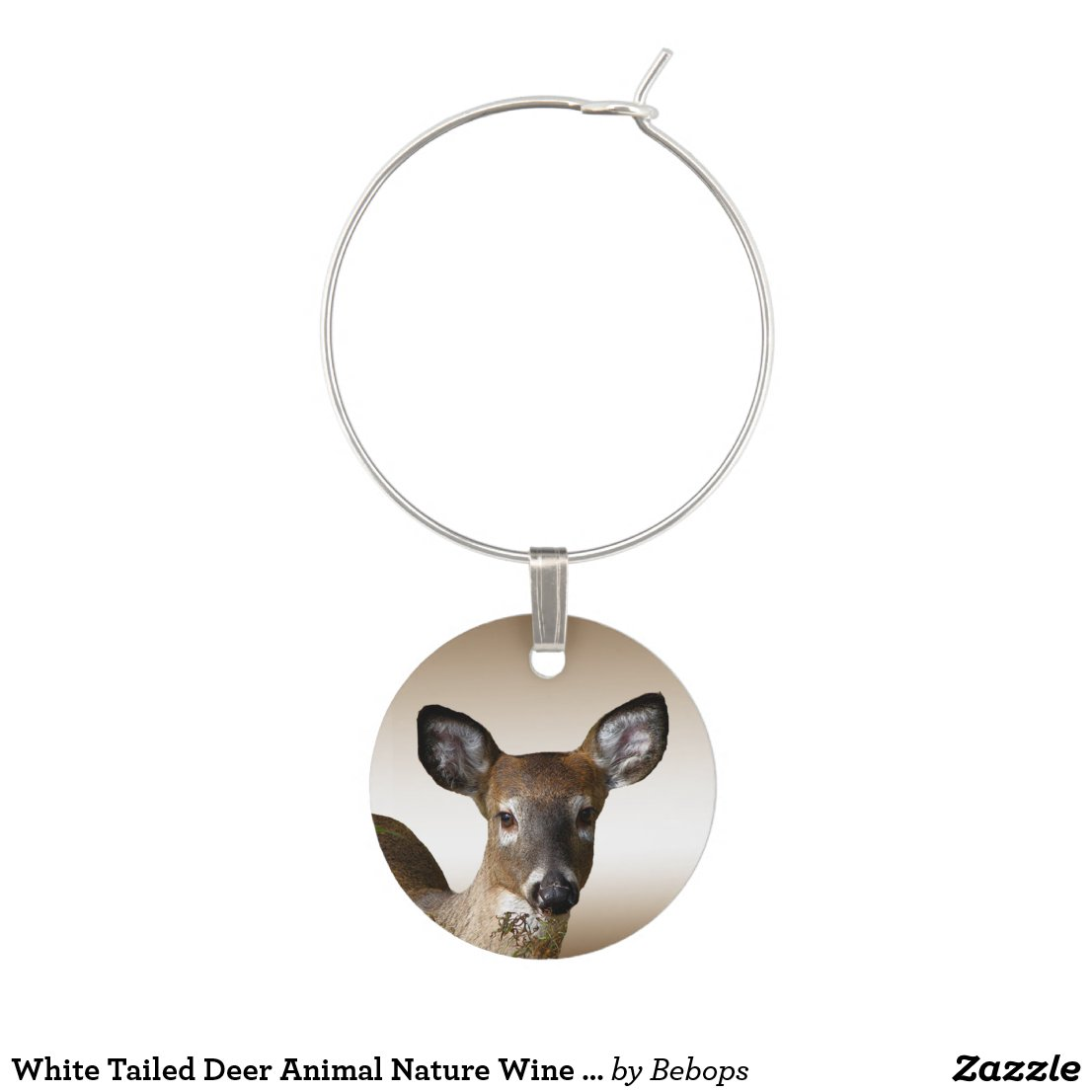 White Tailed Deer Animal Nature Wine Charm