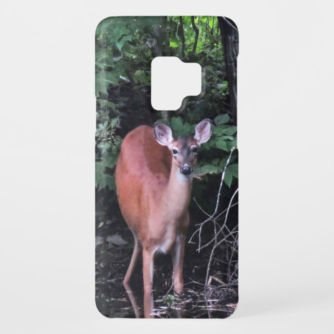 White Tailed Deer at Forest Pond Galaxy S9 Case