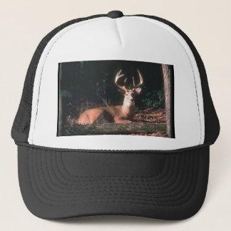 White Tailed Deer Buck Photo Trucker Hat