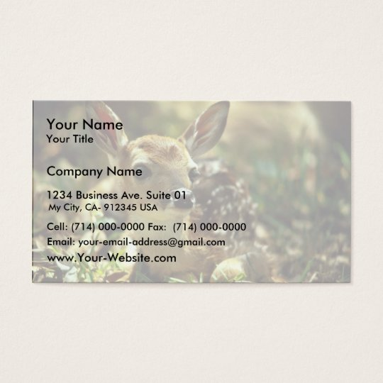 White-tailed Deer Fawn Business Card