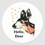White-Tailed Deer Fawn Hat, T-Shirt, Mug, Badge Stickers