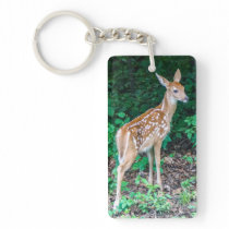 White-Tailed Deer Fawn Keychain