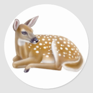 White Tailed Deer Fawn Sticker