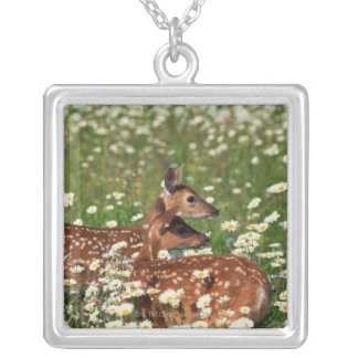 White-tailed deer fawns pendants