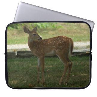 White-tailed Deer in my yard. Computer Sleeve