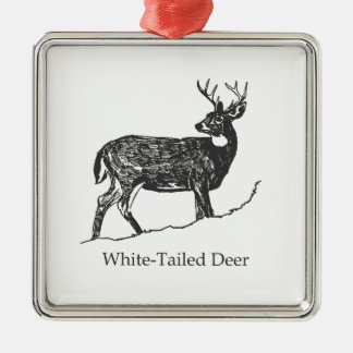 White-Tailed Deer Metal Ornament