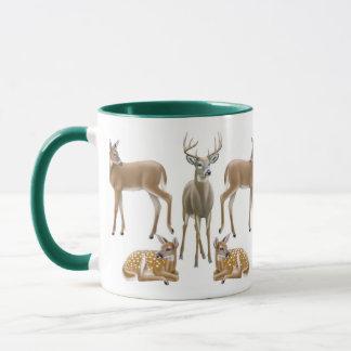 White Tailed Deer Ringer Mug